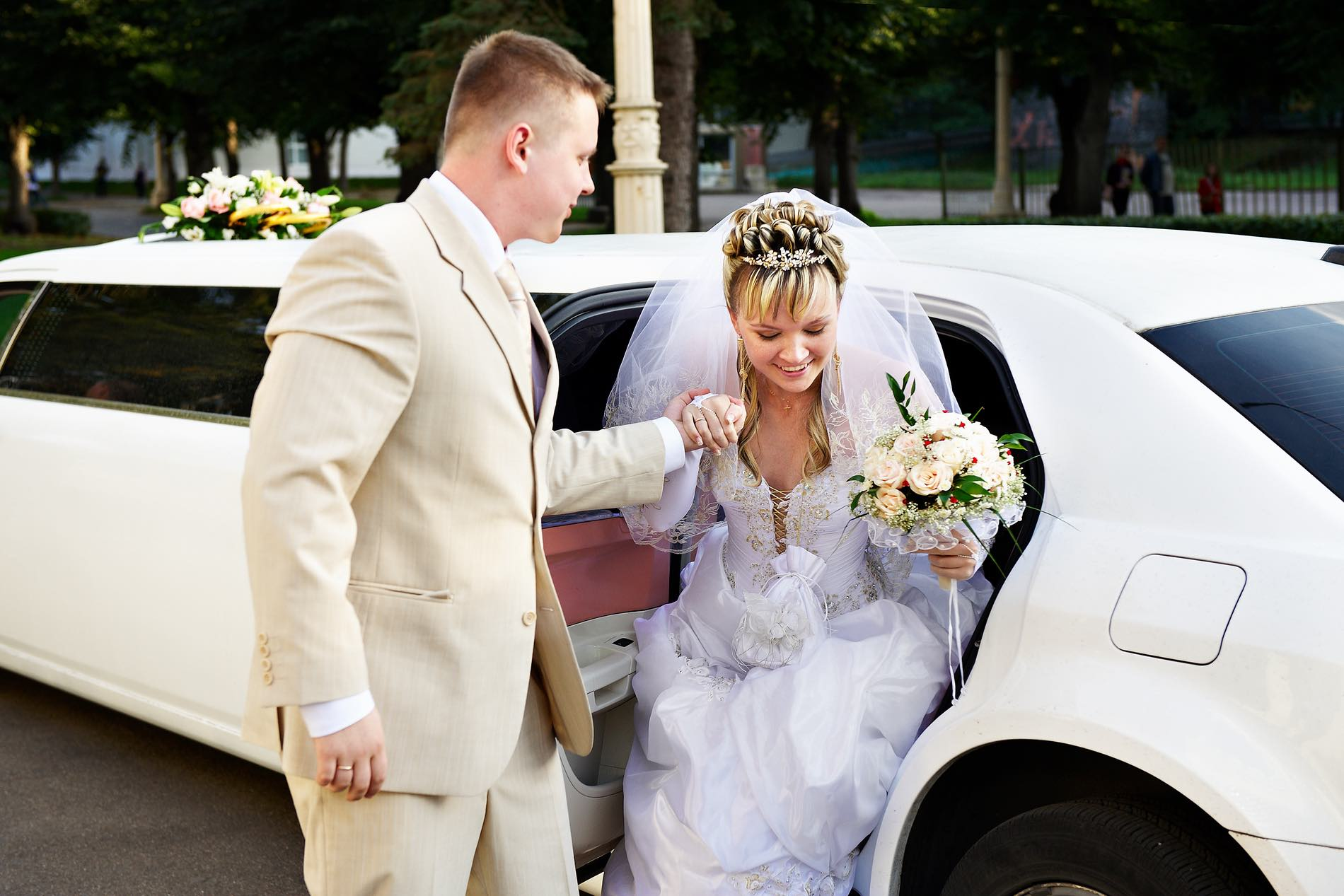 wedding limousine car